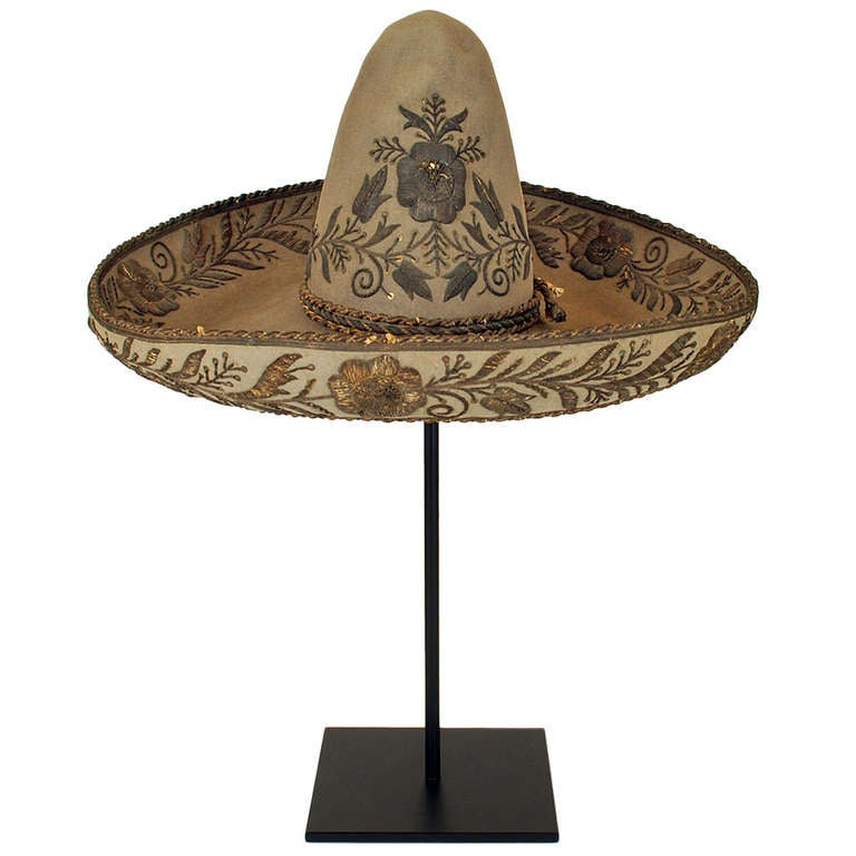 Fancy 19th Century Mexican Sombrero At 1stdibs