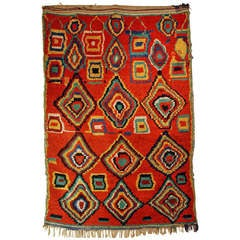 Good Graphic Vintage Berber Azilal From Morocco At 1stdibs