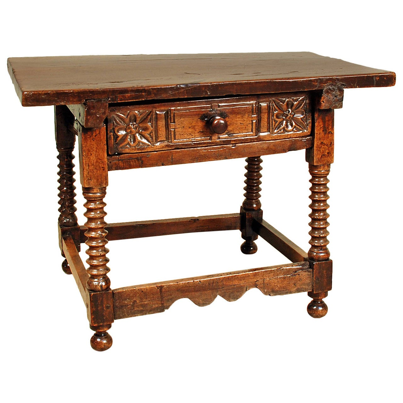 17th century spanish baroque period walnut side table at for Spanish baroque furniture