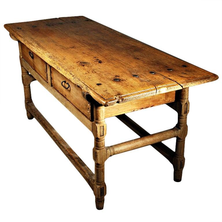 18th Century Mexican Sabino Wood Hacienda Table At 1stdibs