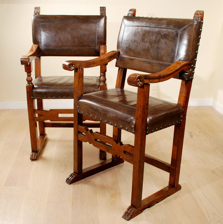 Spanish baroque period walnut chairs at 1stdibs for Spanish baroque furniture