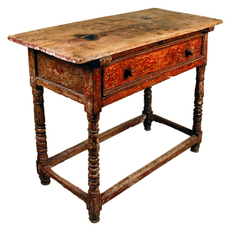 18th Century Spanish Colonial Table At 1stdibs