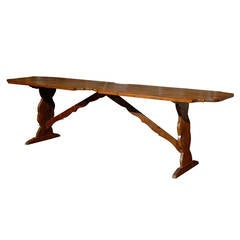 French Pine Trestle Table