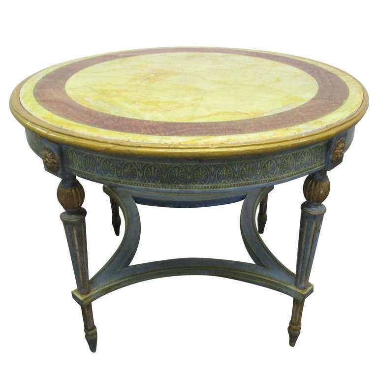 French Connection Gunmetal Coffee Table: Antique Painted Italian Neoclassical Center Table At 1stdibs