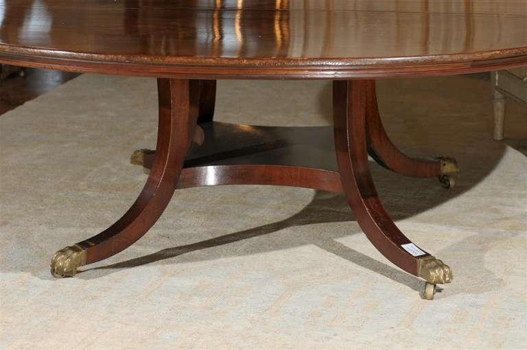 Irish Mahogany Table With Birdcage Pedestal At 1stdibs