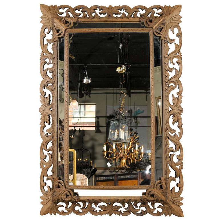 large oak baroque mirror at 1stdibs