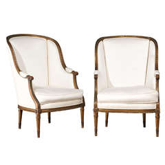 Pair of French Bergére Chairs