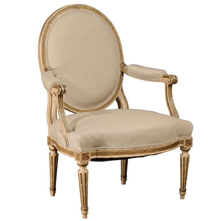 Late 18th Century Louis XVI Period Drawing Room Armchair