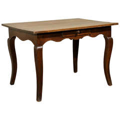 19th Century Large Walnut Table or Desk