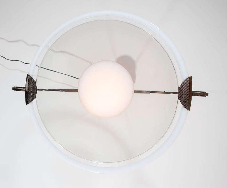 Murano Glass Pendant Attributed to Mazzega For Sale 2