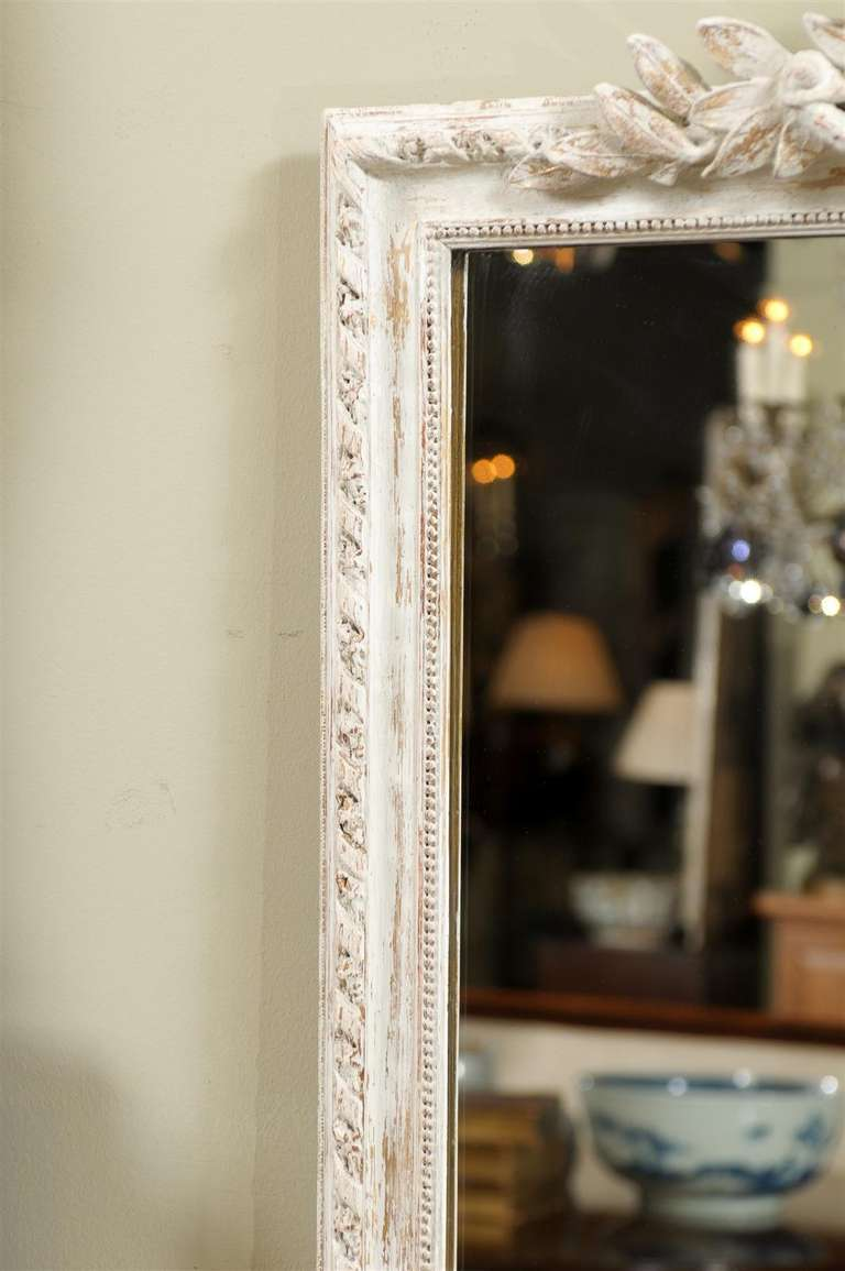 mercury glass mirror with carved frame at 1stdibs