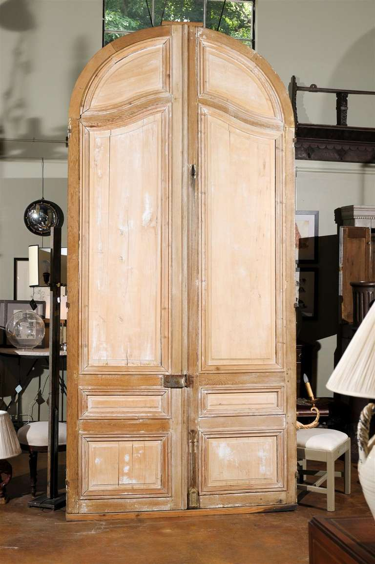 Monumental 19th century french crescent top paint decorated exterior doors at 1stdibs Best varnish for exterior doors