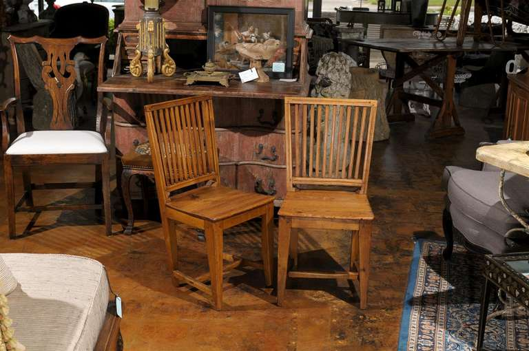 Set of Eight Late 18th Century Swedish Gustavian Period Side Stick-Back Chairs In Good Condition For Sale In Atlanta, GA