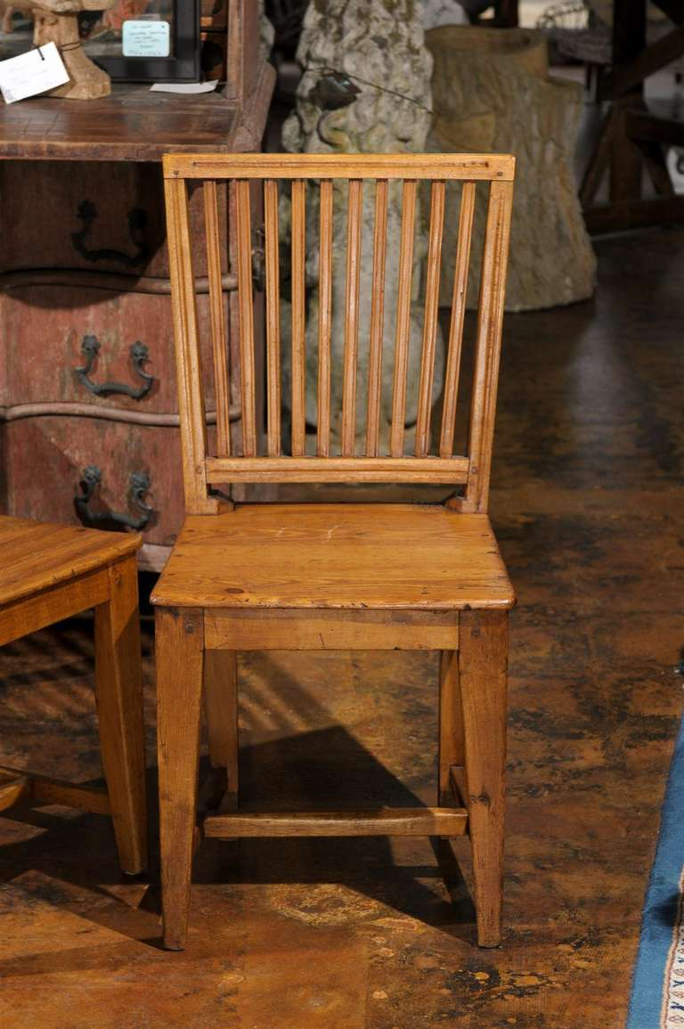 Set of Eight Late 18th Century Swedish Gustavian Period Side Stick-Back Chairs For Sale 1