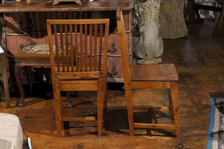 Set of Eight Late 18th Century Swedish Gustavian Period Side Stick-Back Chairs For Sale 3