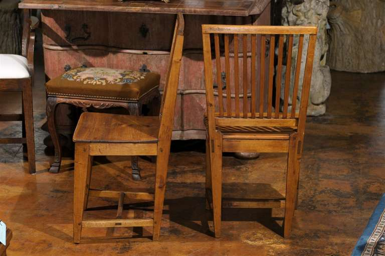 Set of Eight Late 18th Century Swedish Gustavian Period Side Stick-Back Chairs For Sale 4