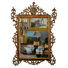 18th Century Giltwood Tuscan Mirror