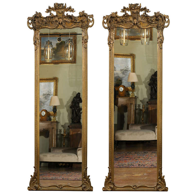 Pair Of Ornate Pier Mirrors At 1stdibs