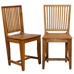 Set of Eight Late 18th Century Swedish Gustavian Period Side Stick-Back Chairs