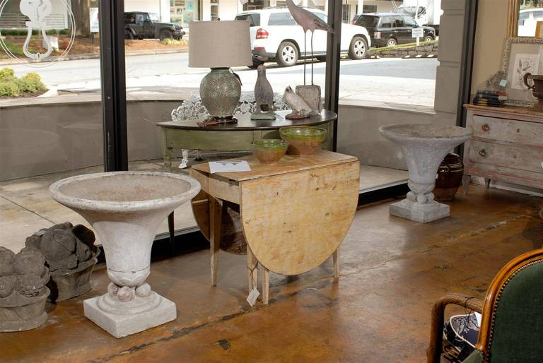 Pair Of Large Concrete Art Deco Urns At 1stdibs