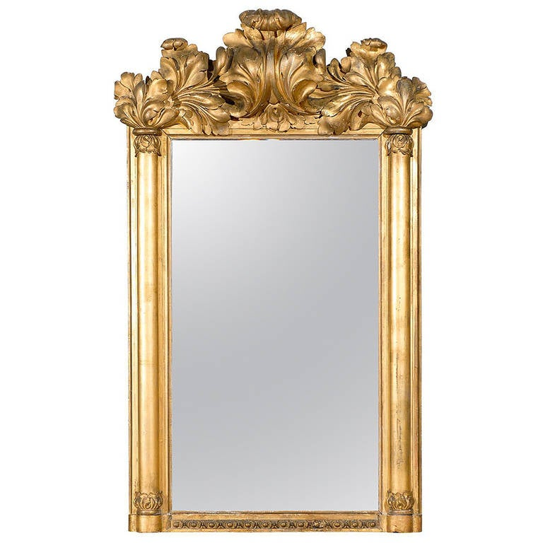 17th century american giltwood rococo revival mirror at for 17th century mirrors