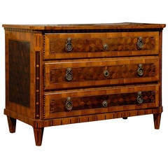 Early 19th Century French Marquetry Inlaid Commode