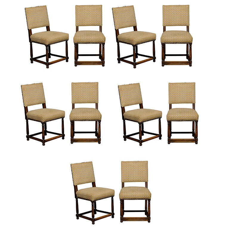 this set of ten oak dining chairs is no longer available