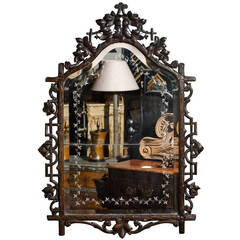 Black Forest Mirror with Original Glass