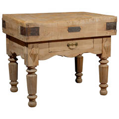 Old Butcher Block Table