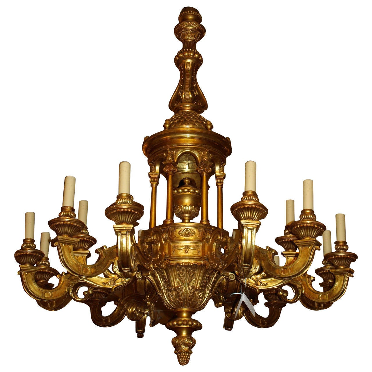 Giltwood Chandelier At 1stdibs
