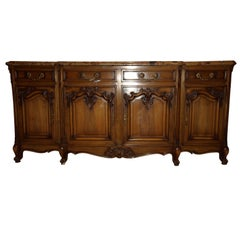 Antique Marble-Topped Sideboard