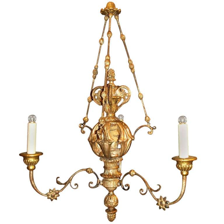 Antique Chandelier. 19th Century Italian Chandelier