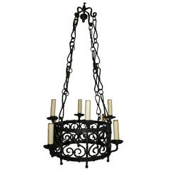 Antique Chandelier. Iron Chandelier