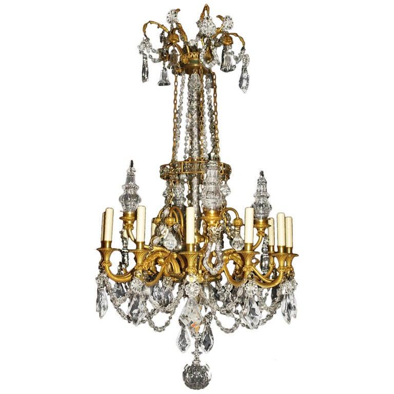 Antique Chandelier. Louis Philippe Style chandelier