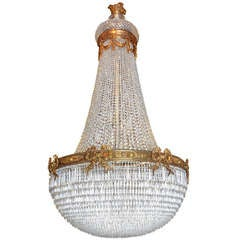 Antique Chandelier. Baccarat basket style chandelier
