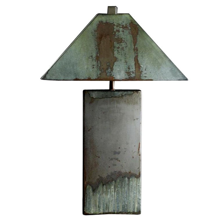 Galvanized Metal Lamp At 1stdibs