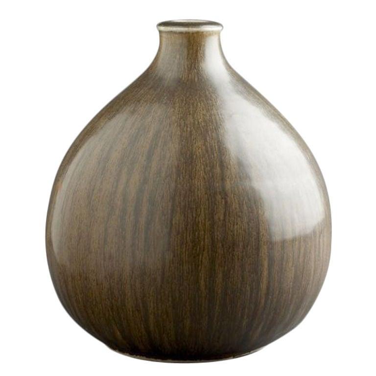 Saxbo Ceramic Brown Vase At 1stdibs