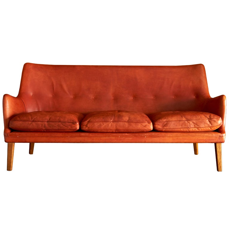 Arne Vodder For Ian Schlecter Sofa And Chair At 1stdibs