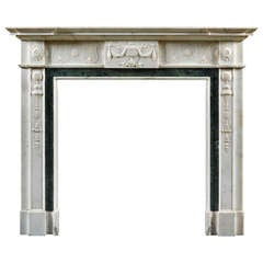 A Late 18th Century Neoclassical Anglo Irish Fireplace Mantle