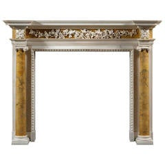 Important Antique George II English Fireplace Mantel