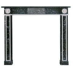 Kilkenny and Statuary Marble Fireplace Mantle in the Regency Manner