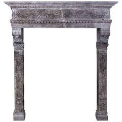 16th Century Italian Stone Chimneypiece