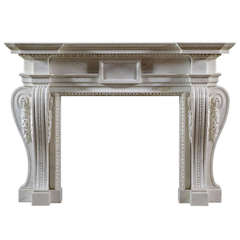 English George II Palladian Fireplace Mantel