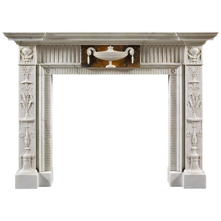 Neoclassical Style Antique Fireplace Mantel For Sale At 1stdibs