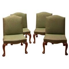 Set of Four George II Mahogany Side Chairs