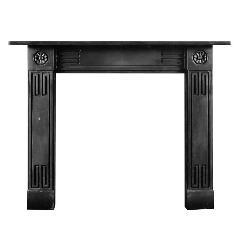 Antique Regency Welsh Slate Fireplace Mantel For Sale