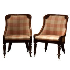 A pair of Irish library chairs