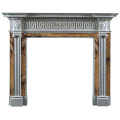 Jamb Tavistock Reproduction Fireplace Mantel in White Statuary Marble