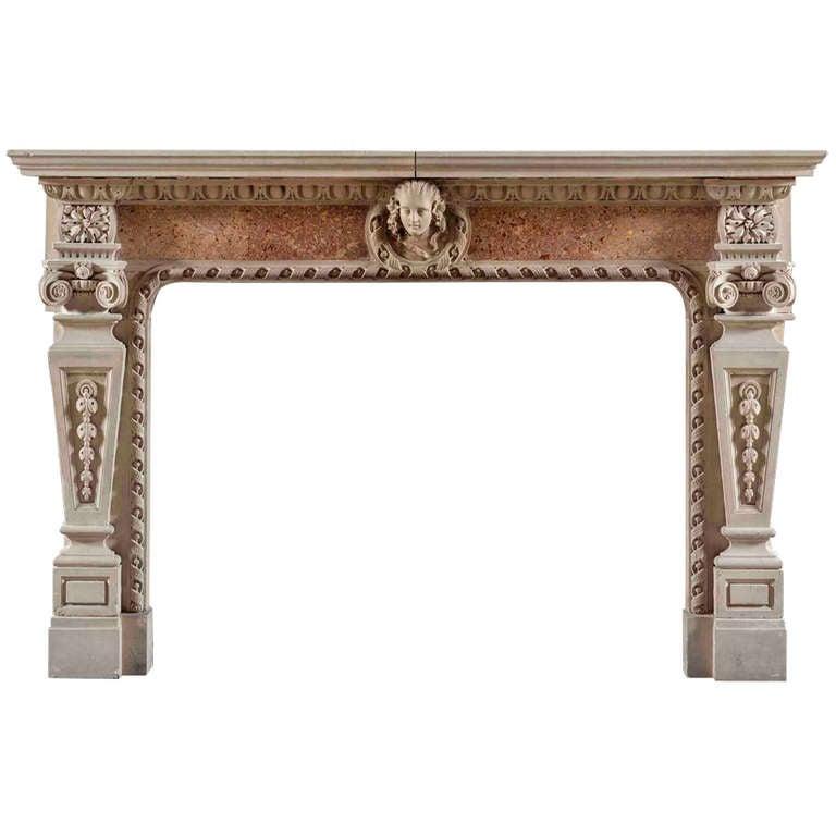 Antique 19th Century Renaissance Style Fireplace Mantle