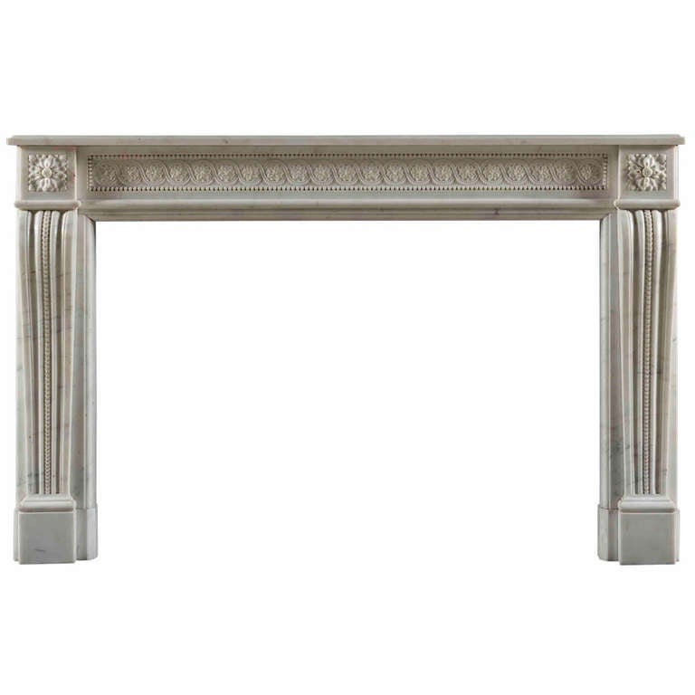 Pair of Antique 19th Century Louis XVI Style Fireplace Mantels